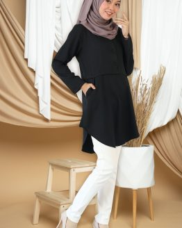 Amisya Long Blouse - Black