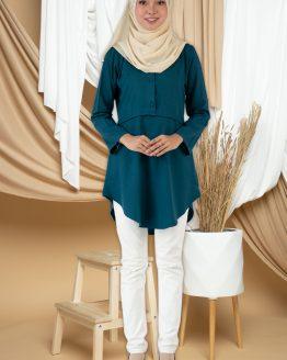 Amisya Long Blouse - Turquoise