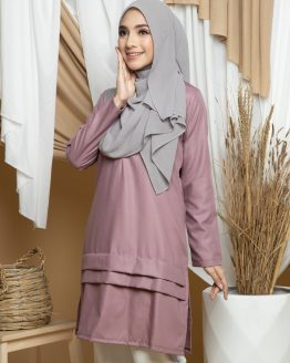 Adana Long Blouse - Dusty Pink