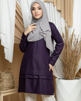 Adana Long Blouse - Dark Purple