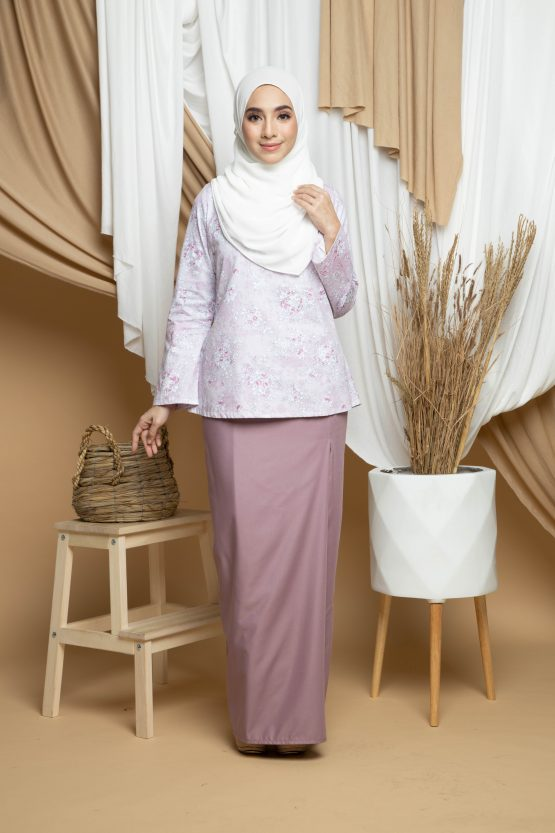 Dhiya Kurung Kedah - Dusty Pink