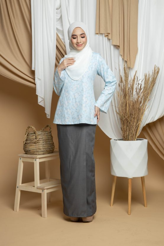 Dhiya Kurung Kedah - Baby Blue