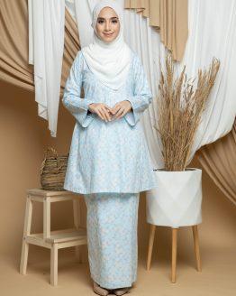 Dhiya Kurung Pahang - Baby Blue
